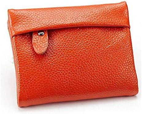 女性のメンズ本物のレザーショートウォレットエレガントなジッパー財布カードホルダーコインバッグ YZUEYT