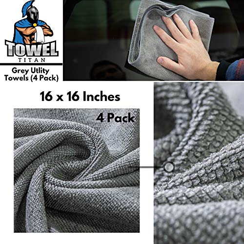 Towel Titan Microfiber Complete Bundle Kit - Microfiber Detailing Towels for Your Car, Boat, RV, Home, and More - Drying Towels, Utility Towels, Wax & Polishing Towels (Professional Bundle) by Towel Titan (Image #5)