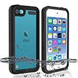 iPod 5 iPod 6 Waterproof Case, Re-Sport Shockproof Dustproof Snowproof Full-Body Protective Case Cover Built-in Screen Protector Compatible iPod Touch 5th/6th - Black