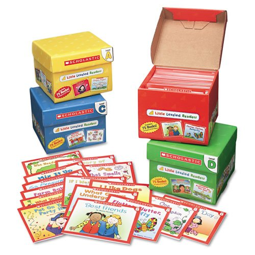 Scholastic Products - Scholastic - Little Leveled Readers Mini Teaching Guide, 75-Books, 5 Each of 15 Titles - Sold As 1 Pack - Step-by-step, book-by-book program guides children through the early stages of reading. - Little Leveled Readers have been carefully evaluated by a reading specialist to correlate with Guided Reading Levels. - Includes Level A Set, Level B Set, Level C Set and Level D Set. - Inside each set you'll find 75 storybooks (five copies of 15 titles) on topics children lov (Leveled Readers Scholastic Little)