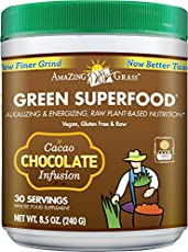 Chocolate Green SuperFood contains a full spectrum of alkalizing green superfoods, antioxidant rich fruits, and support herbs united with organic Acai, Maca and Cacao to provide a powerful dose of whole food nutrition with a delicious dark chocolate ...