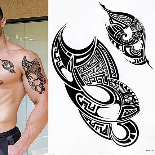 tzxdbh 5 Unids Tatuaje Temporal Polinesio, Conjunto De 1, Tribal ...
