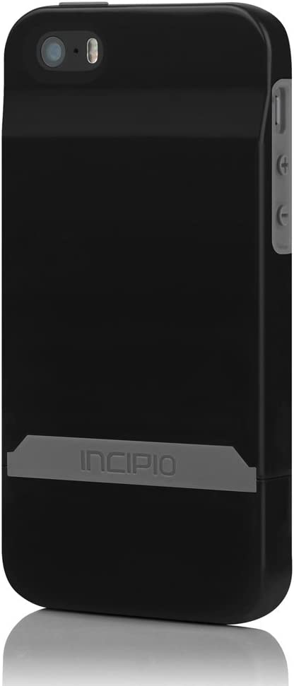 Incipio IPH-844 Stashback for iPhone 5-1 Pack - Retail Packaging - Black/Black