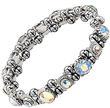 Beautiful Hematite Crystal Magnetic Bracelet for Women. Arthritis. RSI. Carpal Tunnel. Migraines Gh0ZLYsn