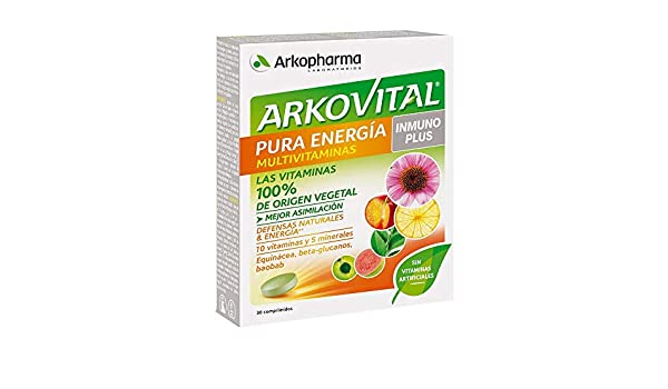 Arkopharma Arkovital Pura Energía Multivitaminas Inmuno Plus Comprimidos, 30Uds: Amazon.es: Salud y cuidado personal