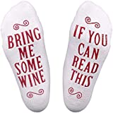 Chalier Womens Wine Cupcake Socks If You Can Read This Bring Me Some Wine, Funny Gift For Mother, Wife, or Friend