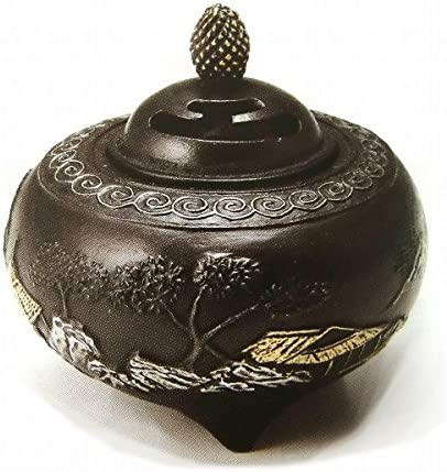 芳親『山水香炉』銅製