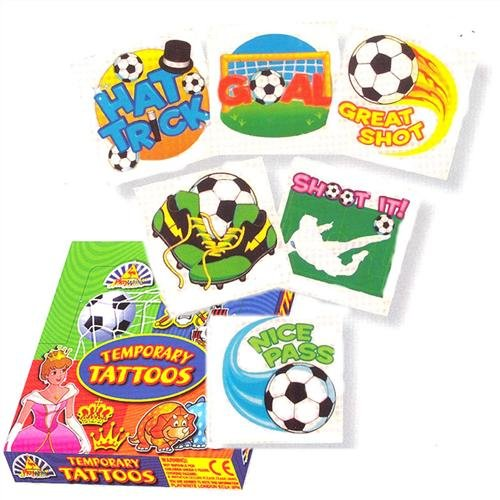 """""""Football Tattoos, pack of 24, assorted"""" """"Football Tattoos assorted"""" Party Bags 2 Go"""