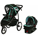 Graco FastAction Fold Jogger Travel System w/SnugRide Click Connect 35, Tidal Wave