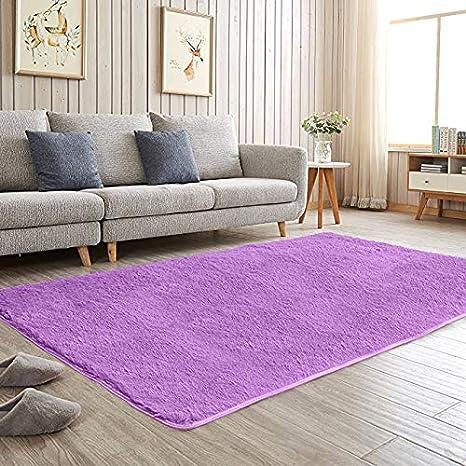 Etonnant Aicehome Area Rug,Soft Girls Bedroom Rug 4 Feet By 5.3 Feet (Purple)