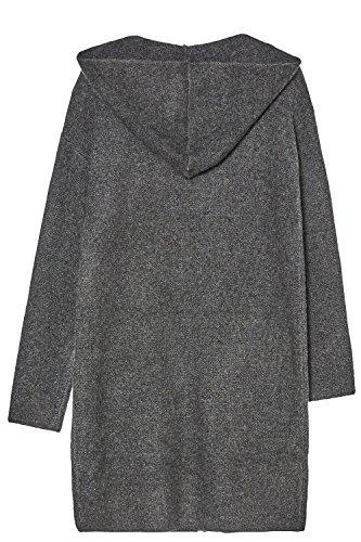 CHERRY PARIS - Cárdigan - chaleco - Cuello redondo - Manga Larga - para mujer gris oscuro