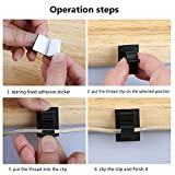 wire organizer 50 Pcs adhesive Cable finishing cord holder dash cam wire clips for car family office office organizer