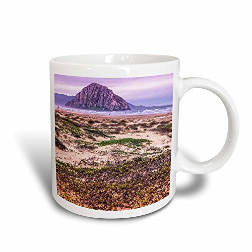 3dRose 110807_3 Morro Rock And Bay Mug 11 oz Black/White