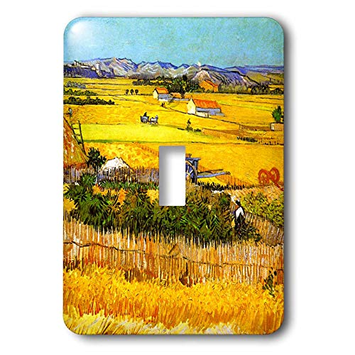 - 3dRose VintageChest - Masterpieces - van Gogh - Landscape Near Arles - Light Switch Covers - single toggle switch (lsp_303210_1)
