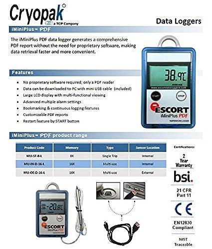 Cryopak iMiniPlus PDF Multi Trip Data Logger USB 16K: Amazon.com: Industrial & Scientific