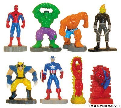 Marvel Super Heroes Buildable Mini Figures Capsule Toys - Vending Set of 8 Capsule Figure Set