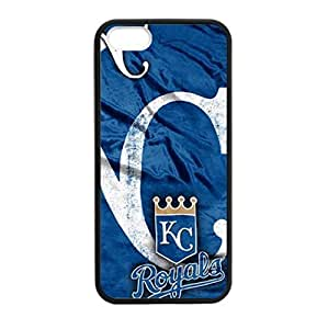 Fashionable Designed iPhone 5/5s TPU Case with Kansas City Royals Background (Laser Technology)-by Allthingsbasketball