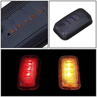 4Pcs Trailer Dually Bed Fender LED Side Marker Light for Chevy Silverado/GMC Sierra 2500HD 3500HD 15-19 Smoked: Automotive