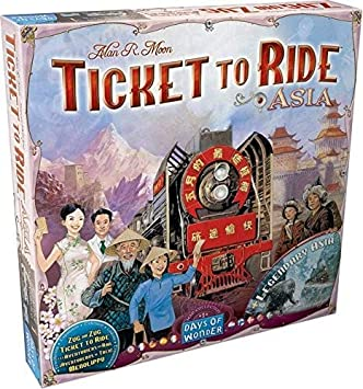 Ticket To Ride Asia Map.Ticket To Ride Asia Map Collection Volume 1 Board Games Amazon