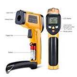 Digital Laser Infrared Thermometer -58℉~ 842℉ (-50℃ ~ 450℃) Non-contact Temperature Gun Laser Thermometer Gun for Cooking/ Brewing/Oven/Pool/Air/Refrigerator/Freezer