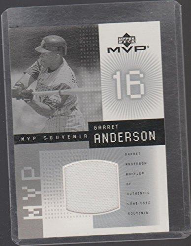 2002 UD MVP Garrett Anderson Angels Game Used Jersey Insert Baseball Card ()