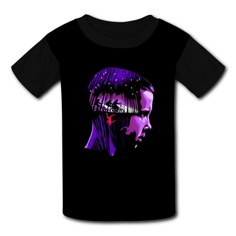 NJLLOS Stranger Things Eleven Kid//Youth T-Shirts 3D Casual Short Sleeve O-Neck Tees