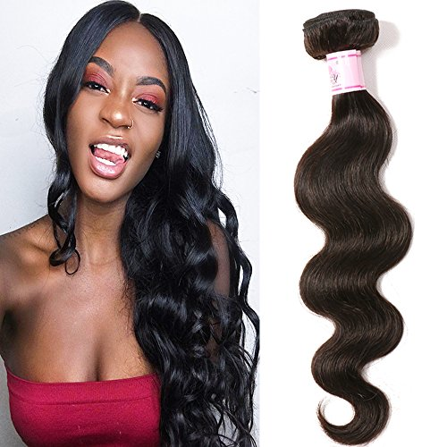 Beauty Forever Brazilian Body Wave Virgin Hair 1 Bundle 95g~100g Brazilian Hair 100% Unprocessed Human Virgin Hair Extensions (16 inch)