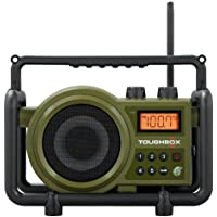 Sangean TB-100 (Toughbox) AM/FM/AUX-In Ultra Rugged Digital Tuning Rechargeable Radio (Green)