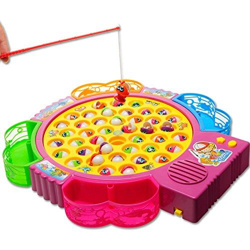 42 Stück Fisch Elektro-Musical Angeln Spielzeug für Kinder Früherziehung,gelegentliche Anlieferung der Farbe