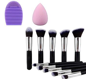 Amazon.com: Conjunto De Brochas Y Pinceles Kabuki - Con ...