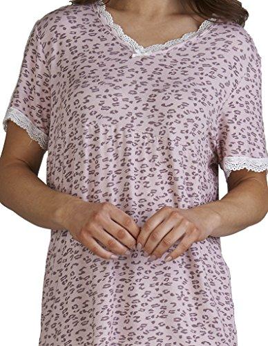 Slenderella Loungewear Pyjama Set in Leoparden Muster in Pink GL03702