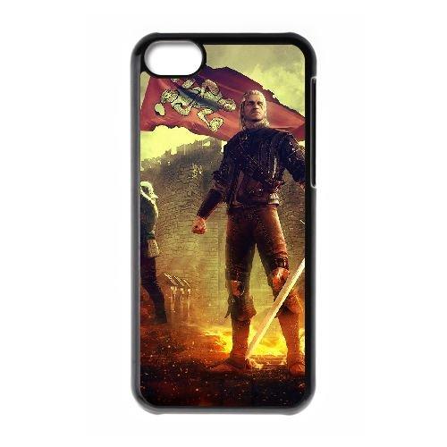 B1A31 The Witcher s of Kings V8Q1GJ cas d'coque iPhone de téléphone cellulaire 5c couvercle coque noire KU4OQU6AL