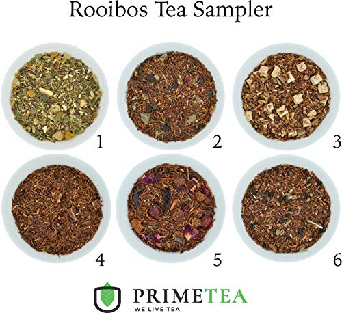 (ROOIBOS TEA SAMPLERS - 6 Ounce Total ≈ 90 Servings - Delicious Vegan All Natural Flavors Caffeine Free Assortment of Loose Leaf Tea - Hot or Iced - No Artificial Flavor (Rooibos #1))