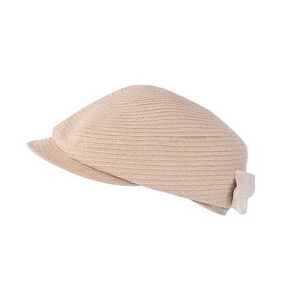 Boinas Cinturón De Lazo Sombrero De Mujer Otoño E Invierno Cálido Boina  Sombrero De Copa ( e9477f44214