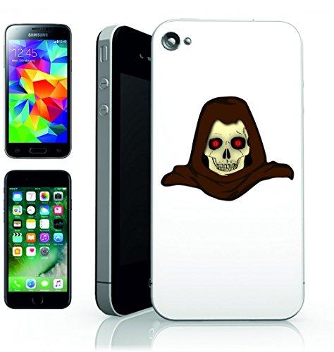 Smartphone Case Creatura della cupola di male con cappuccio di Monster finsteres scheletro del cranio per APPLE IPHONE 4/4S, 5/5S, 5C, 6/6S, 7& Samsung Galaxy S4, S5, S6, S6Edge, S7, S7Edge Huaw