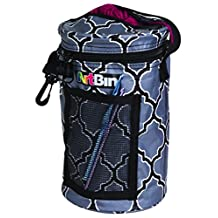 ArtBin 6824AG Mini Yarn Drum Yarn Storage Tote Bag, Black/Gray