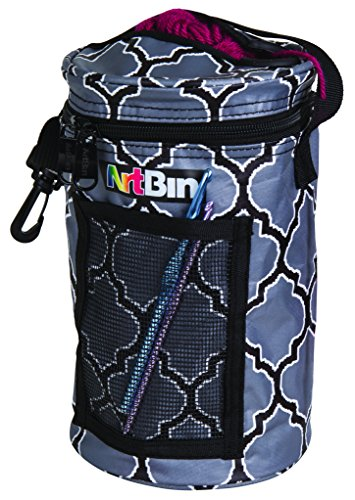 ArtBin Mini Yarn Drum Knitting & Crocheting Tote Bag-Black/Gray, 6824AG by ArtBin