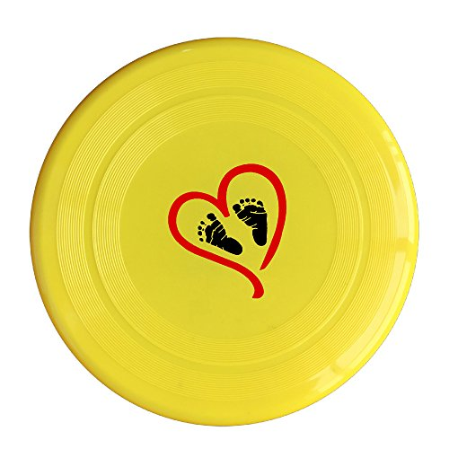 Evaly Cute Baby Heart Feet Red 150 Gram Ultimate Sport Disc Frisbee Yellow