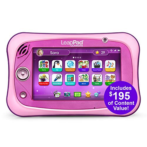 LeapFrog LeapPad Ultimate Ready for School Tablet, Pink (Best Leappad Games For 3 Year Old)