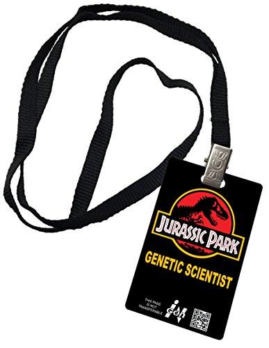 Jurassic Park Novelty ID Badge Prop Costume igen Genetic Scientist]()
