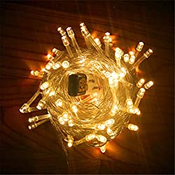 Hq String Lights, 33 ft 100 LEDs 8 Modes LED Lights Copper Wire Firefly Christmas Decor Outdoor & Indoor Decorative Lights