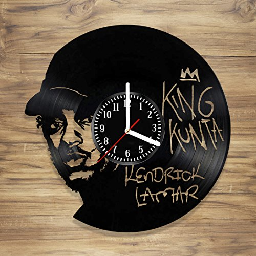 Kendrick Lamar Vinyl Record Wall Clock Rapper Rap King Music Perfect Art Decorate Home Style UNIQUE GIFT idea for Him Her (12 -
