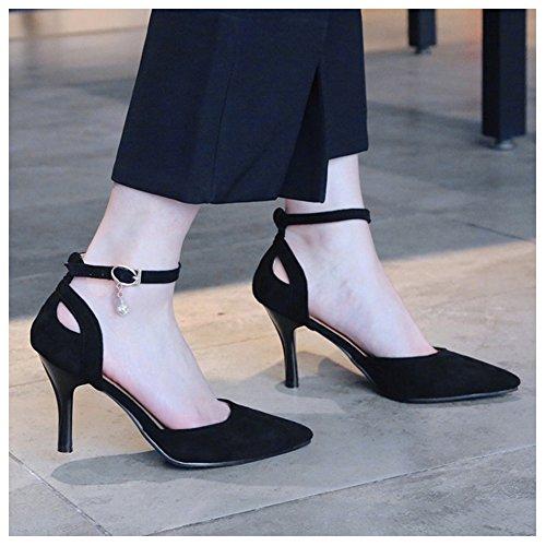Mode RAZAMAZA Femmes Black Aiguille D'Orsay Chaussures xYRZ5Tfwq