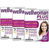 Vitabiotics Wellwoman Plus Omega 3∙6∙9 - 56 Tablets/Capsules, Pack of 3