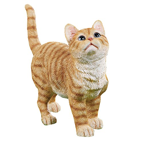 Collections Etc Cute Kitty Orange Tabby Cat Garden Statue Outdoor Decoration ()