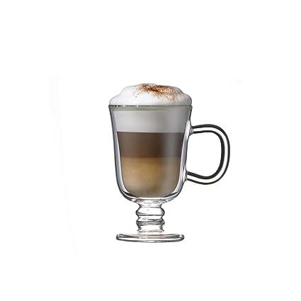 Double Wall Glass Irish Coffee Mug 225ml Set Of 2