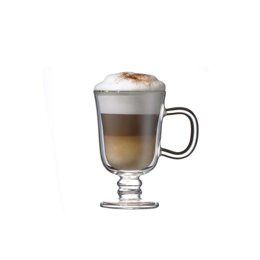Double Wall Irish Coffee Glass Mug Set of 2, by Brilliant (Irish Coffe Cup 7.5oz.)