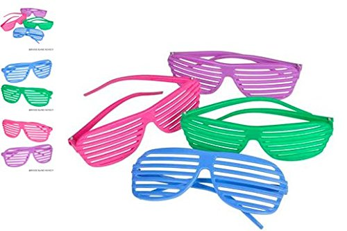 (24) Children's Shutter Shade Toy Glasses ~ COOL ACCESSORY (Kiddie Halloween Costumes)