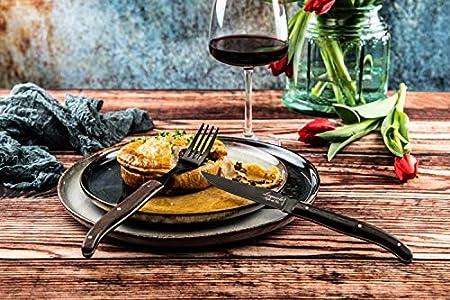 Laguiole Style de Vie Luxury Line - Juego de cuchillos de carne (6 piezas, madera de wengué)