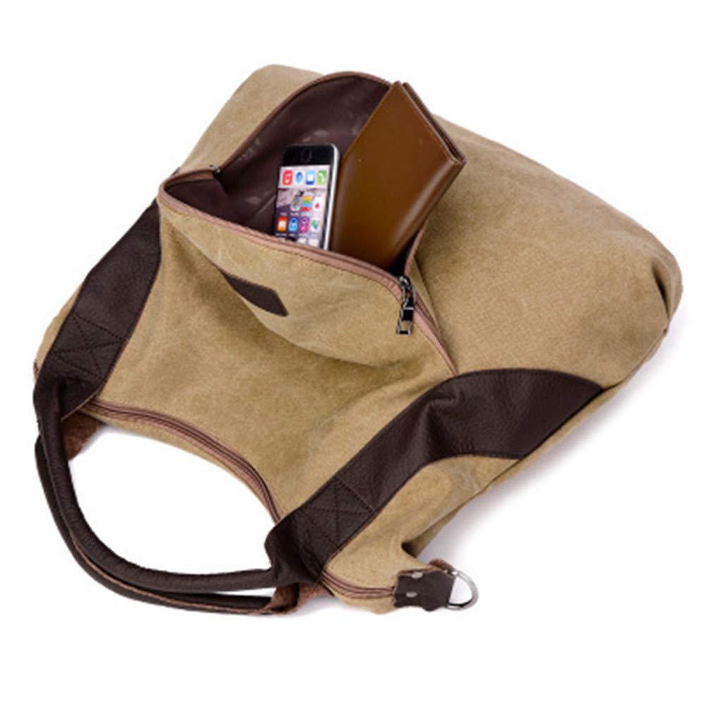 Dayfine Womens Ladies Casual Vintage Hobo Canvas Daily Purse Top Handle Shoulder Tote Shopper Handbag